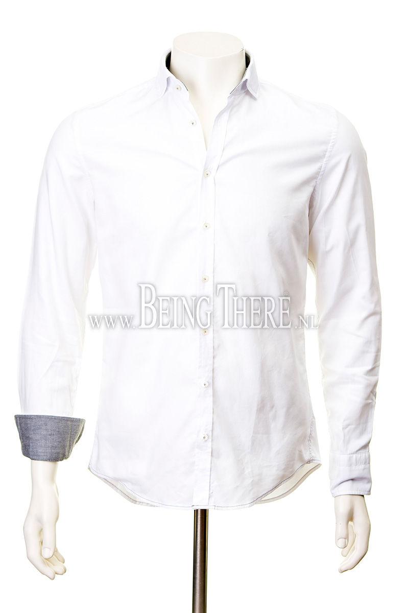 Jacques Britt overhemd slim fit gewassen dyed Foto 1