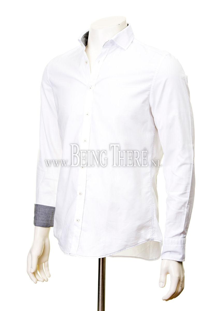 Jacques Britt overhemd slim fit gewassen dyed Foto 2