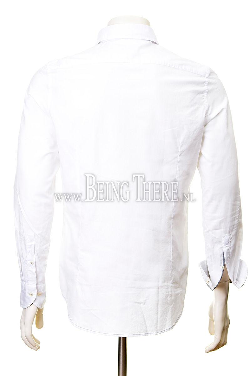 Jacques Britt overhemd slim fit gewassen dyed Foto 3