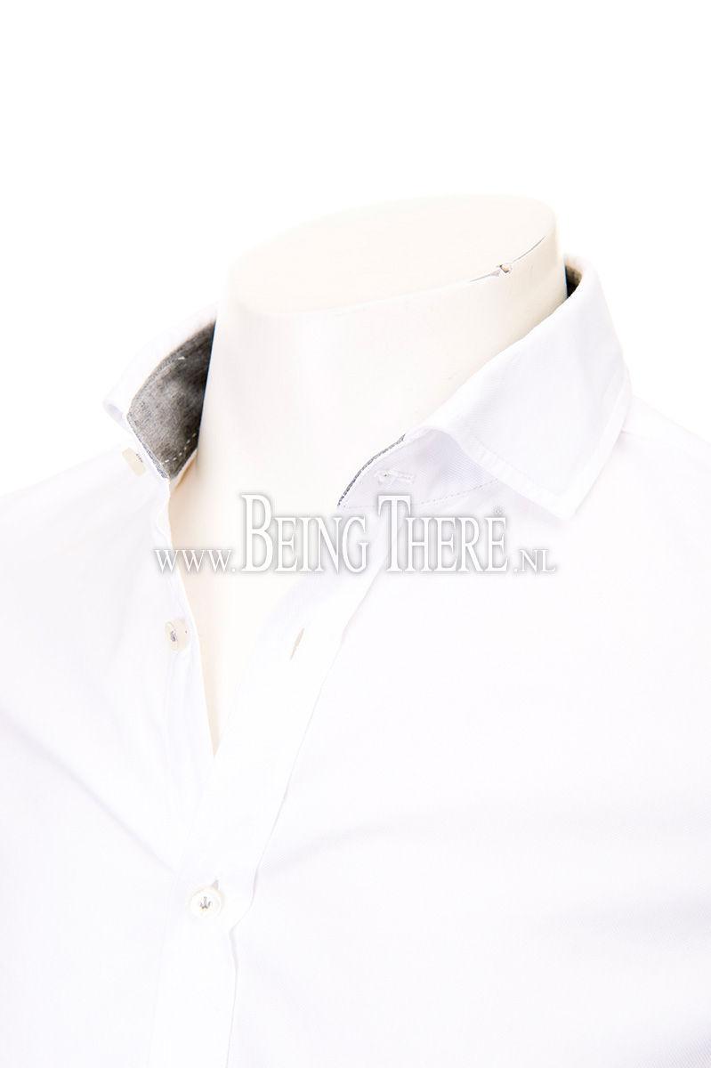 Jacques Britt overhemd slim fit gewassen dyed Foto 4