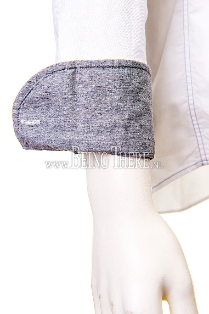 Jacques Britt overhemd slim fit gewassen dyed Foto 5