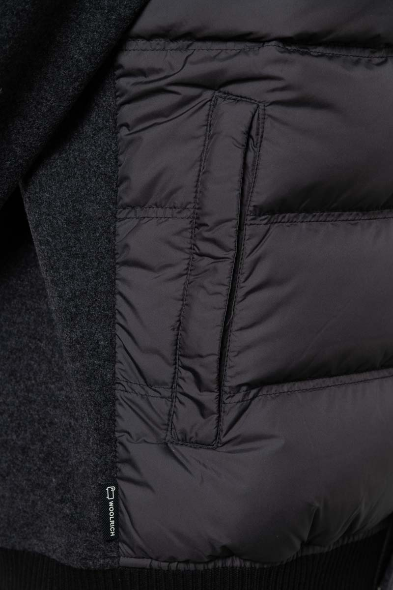 Woolrich Bonded Full Zip Dons Gevoerd zwart Foto 3
