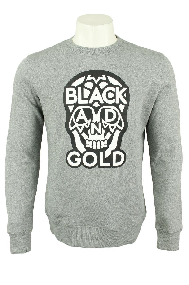 BLACK & GOLD Sweater Crew Neck Cotton Mix Foto 1