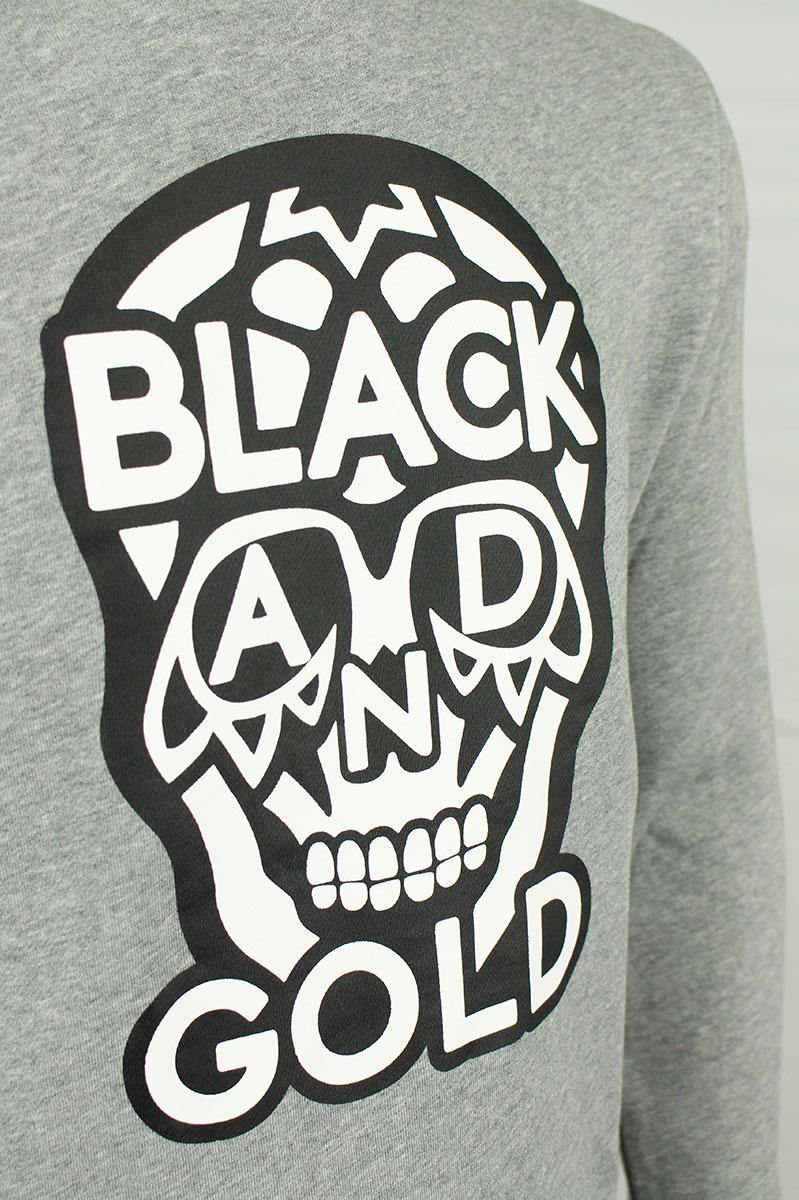 BLACK & GOLD Sweater Crew Neck Cotton Mix Foto 3