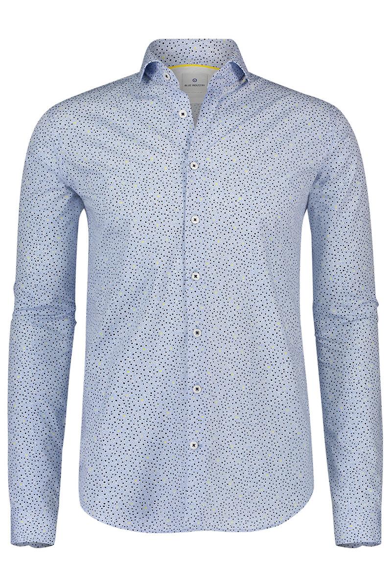 Bleu Industry Overhemd Licht Blue Print Foto 1