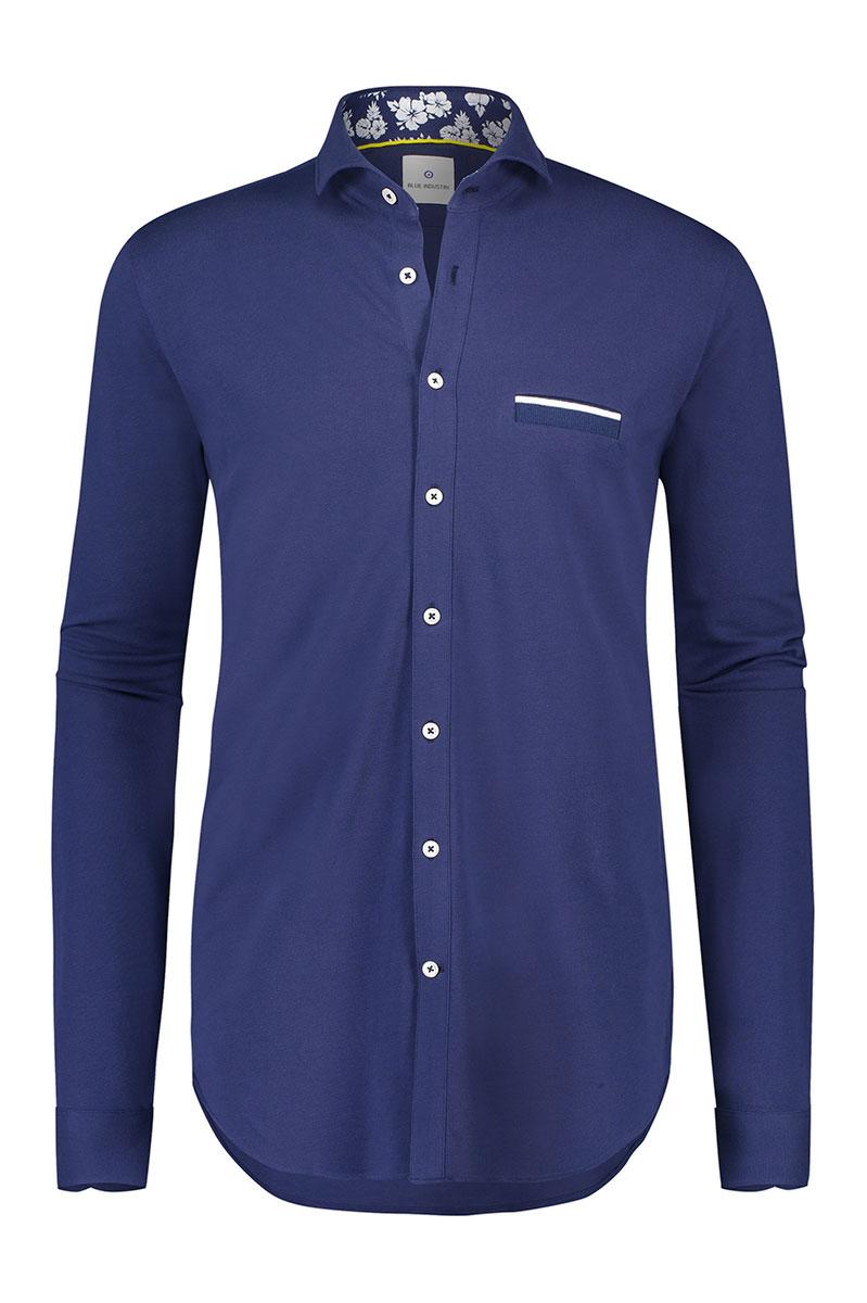 Bleu Industry Overhemd Pique Stretch Foto 1