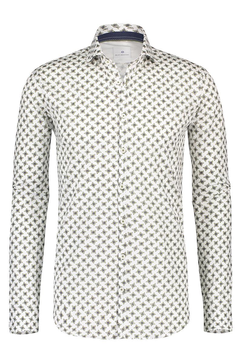 Bleu Industry Overhemd Wit Print Foto 1