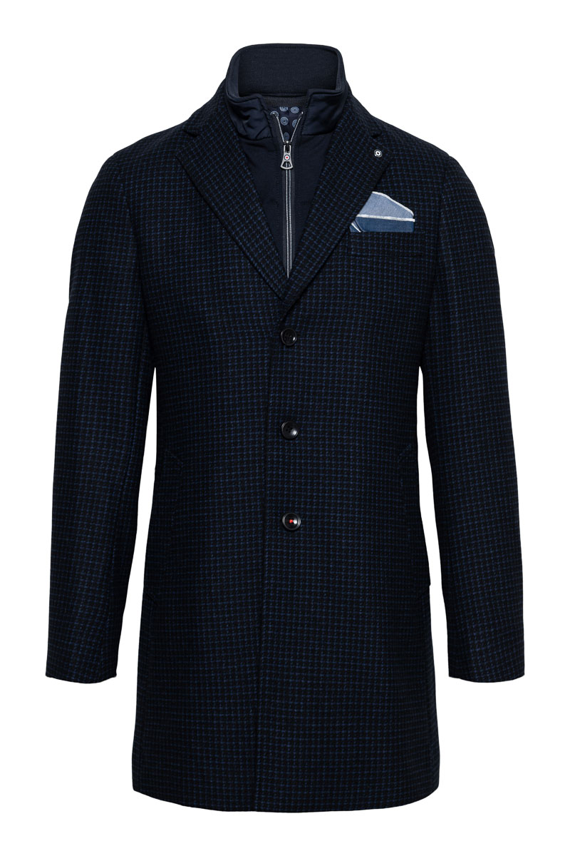 Blue Industry Coat Zip Wolmix Foto 1
