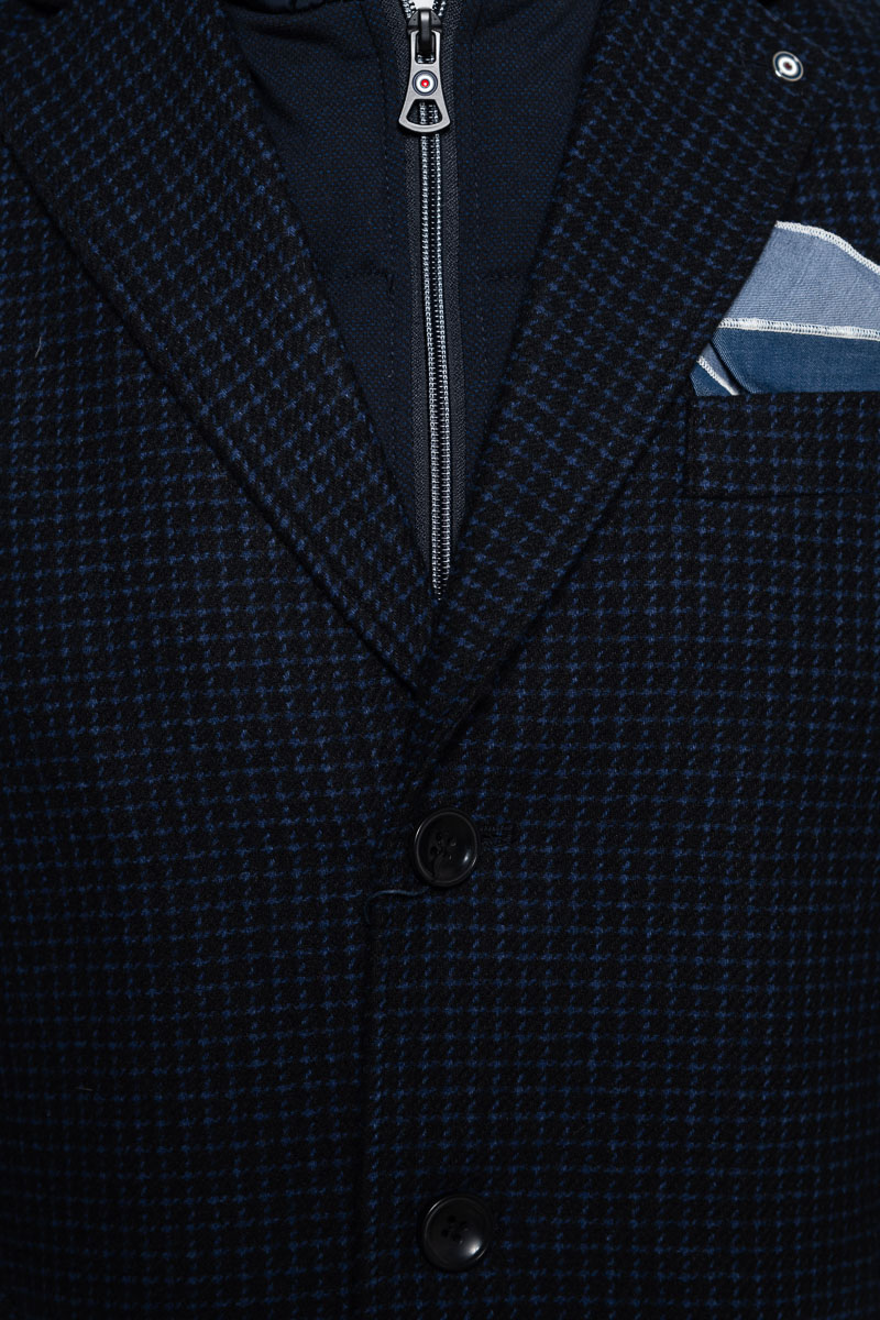 Blue Industry Coat Zip Wolmix Foto 3