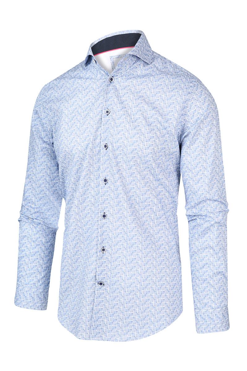 Blue Industry Overhemd Katoen Perfect Fit Foto 1