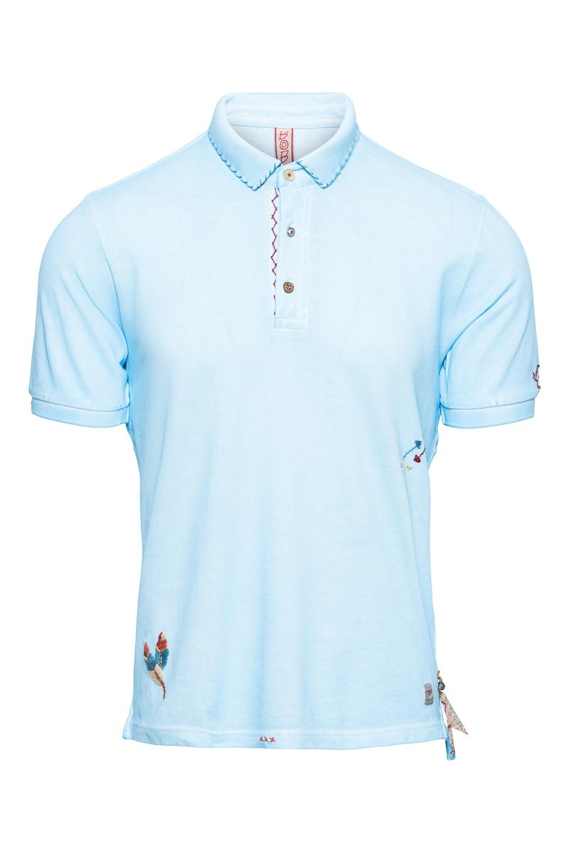 BOB Polo Garment Dyed Slim Fit Foto 1