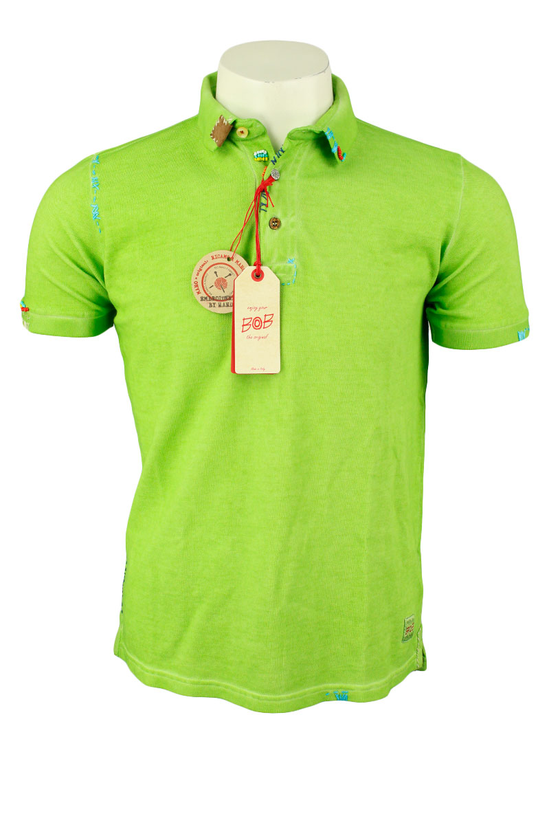 BoB Polo Katoen Slim Fit Fantasy Garment Dyed Foto 1