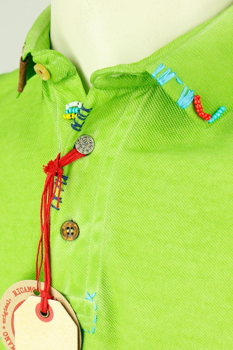 BoB Polo Katoen Slim Fit Fantasy Garment Dyed Foto 3