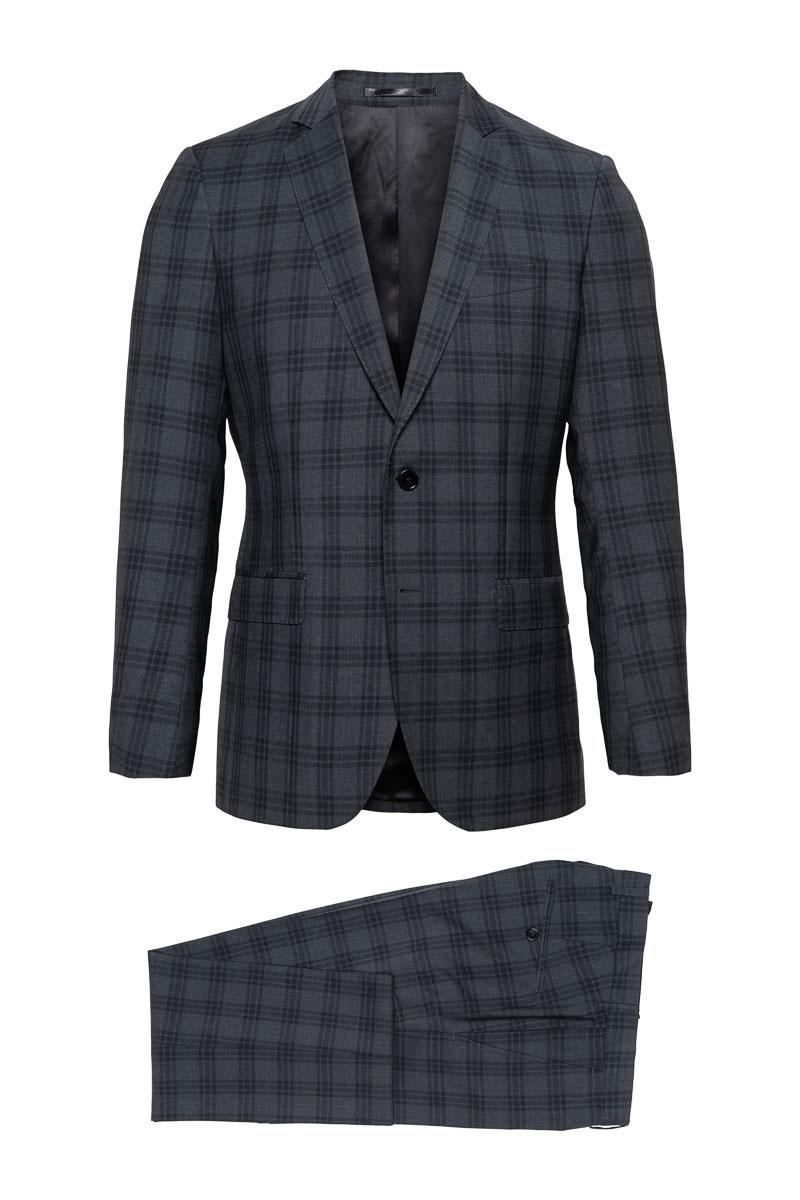 BT Business Class Kostuum Ruit ZuiverScheerwol Foto 1