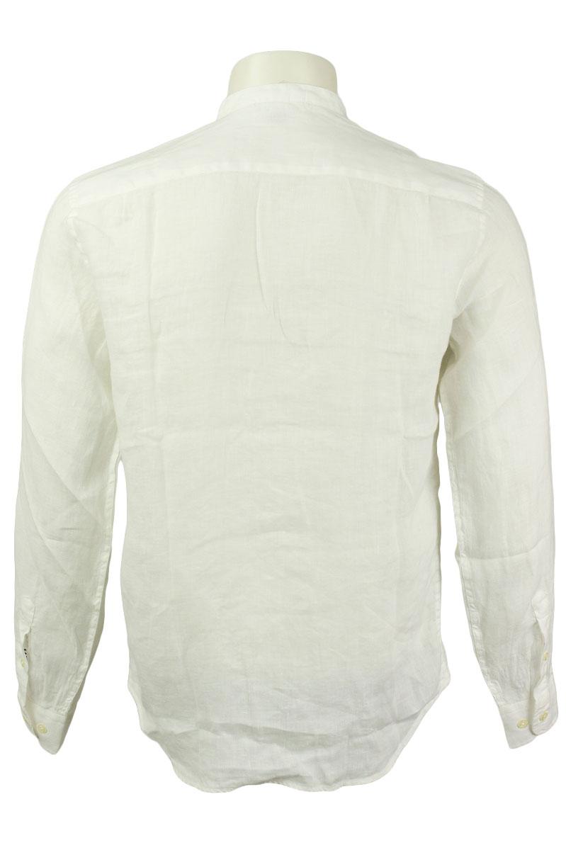 CP Company Linen Shirt Crewneck Collar White Gauze Foto 2