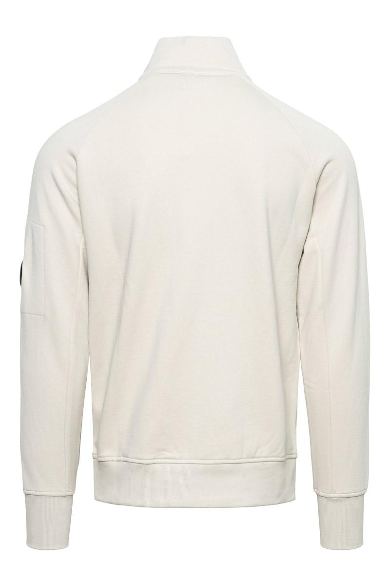 CP Company Polo Sweater Cotton Fleece Zip licht Beige Foto 2