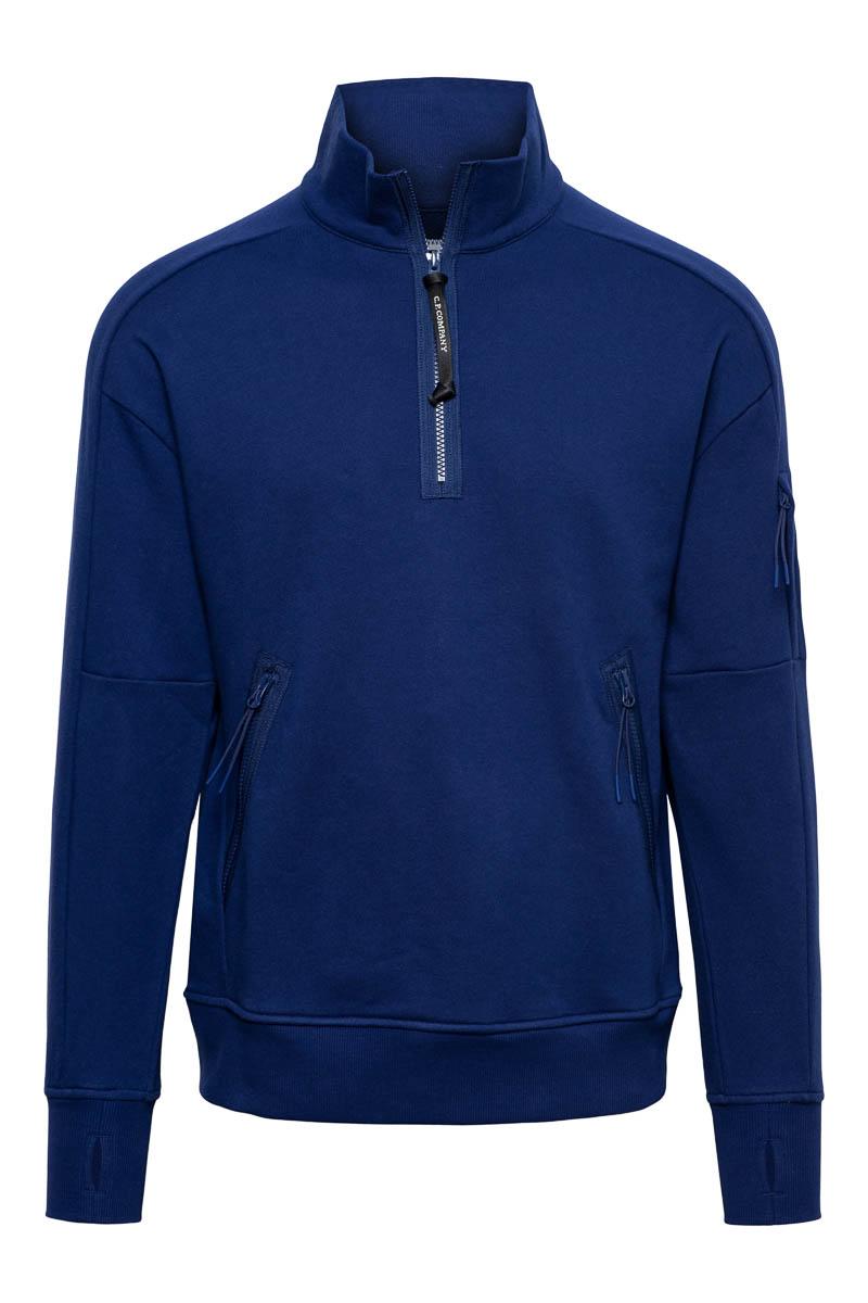 CP Company Polo Sweater Cotton Fleece Zip 11CMSS059A Foto 1