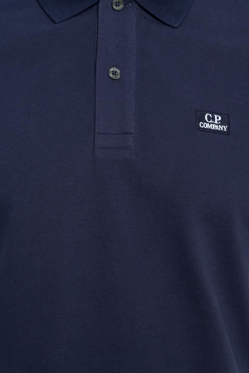 C.P. Company Poloshirt Korte Mouw 100% Katoen Foto 3