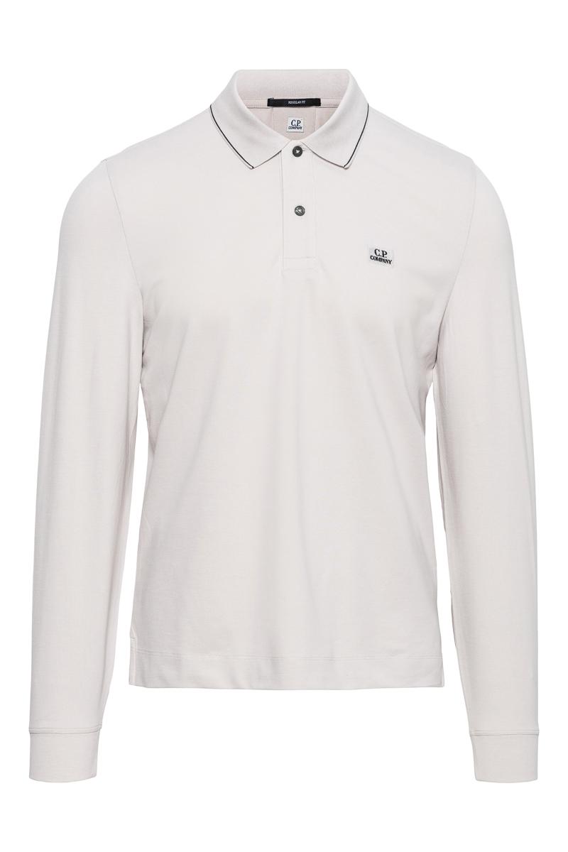 C.P. Company Poloshirt Lange Mouw 100% Katoen Foto 1