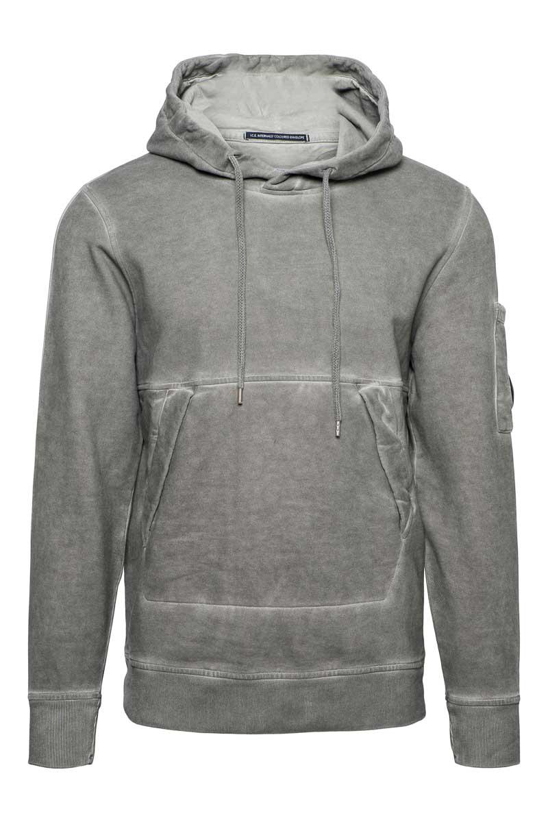 CP Company Sweater Hoody Cotton Fleece Piece Dyed Foto 1