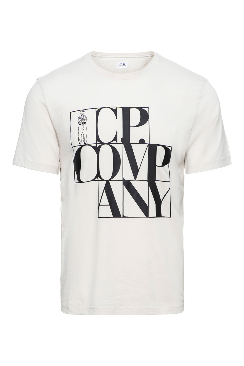 CP Company T-Shirt 100% Cotton Logo Print Foto 1