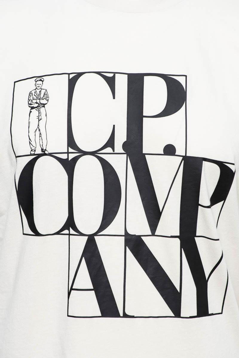 CP Company T-Shirt 100% Cotton Logo Print Foto 3