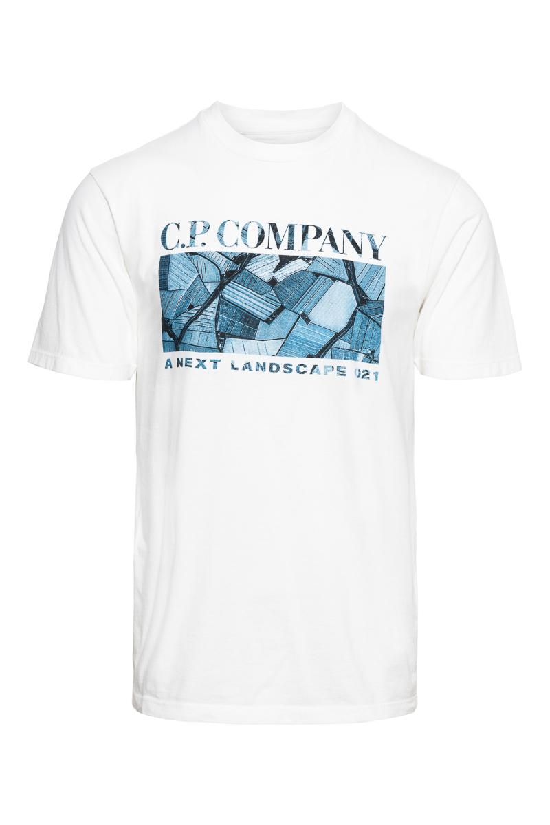C.P. Company T-Shirt 100% Katoen Print Foto 1