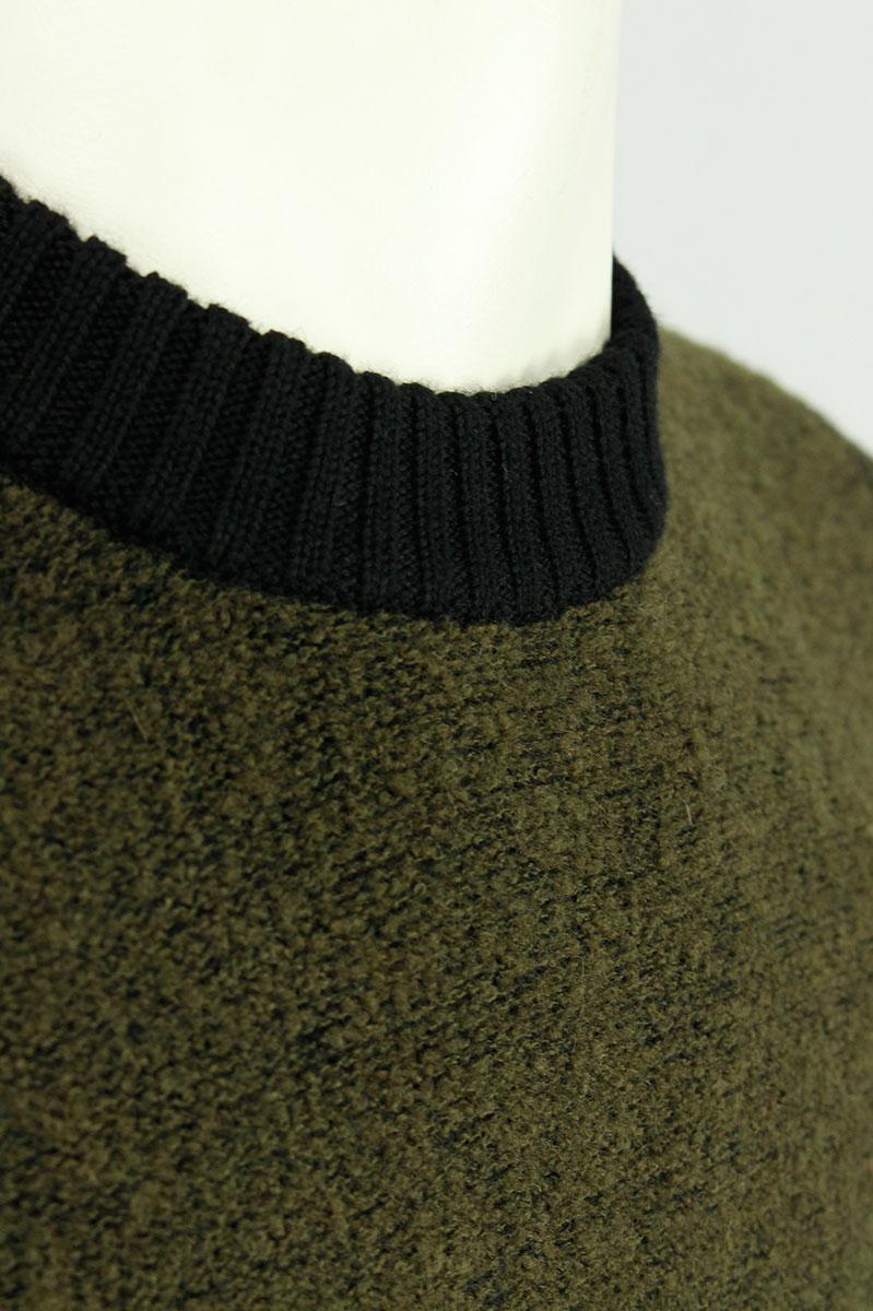 CP Company Trui Dark Olive Wol Polyamide Stretch Foto 3