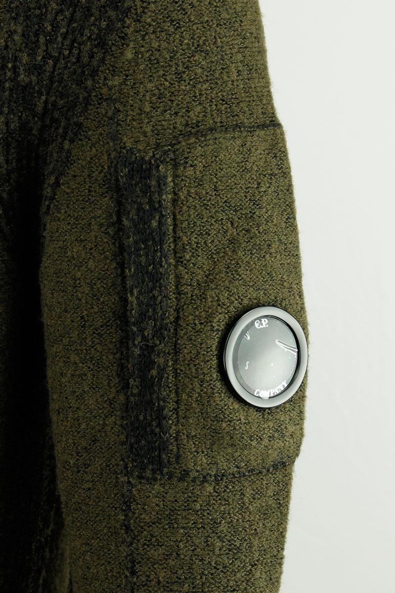 CP Company Trui Dark Olive Wol Polyamide Stretch Foto 4