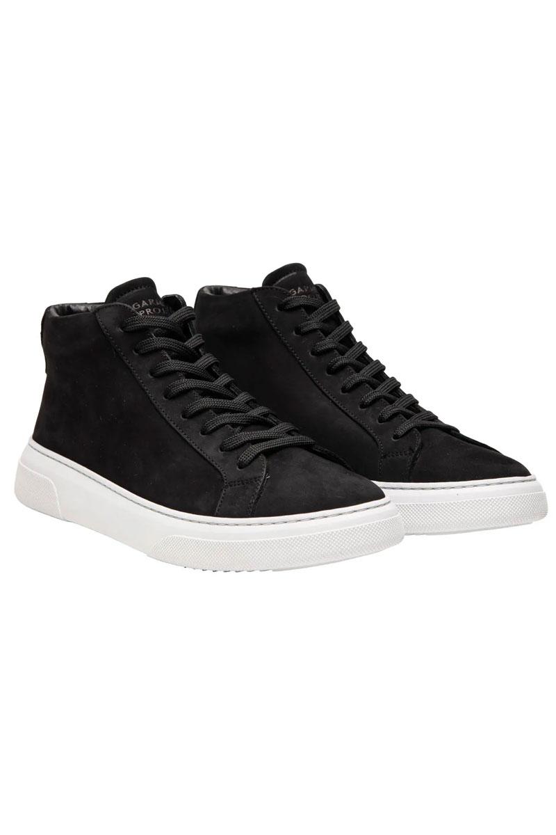 Garment Project Type Mid Sneaker Black Nubuck leat Foto 2