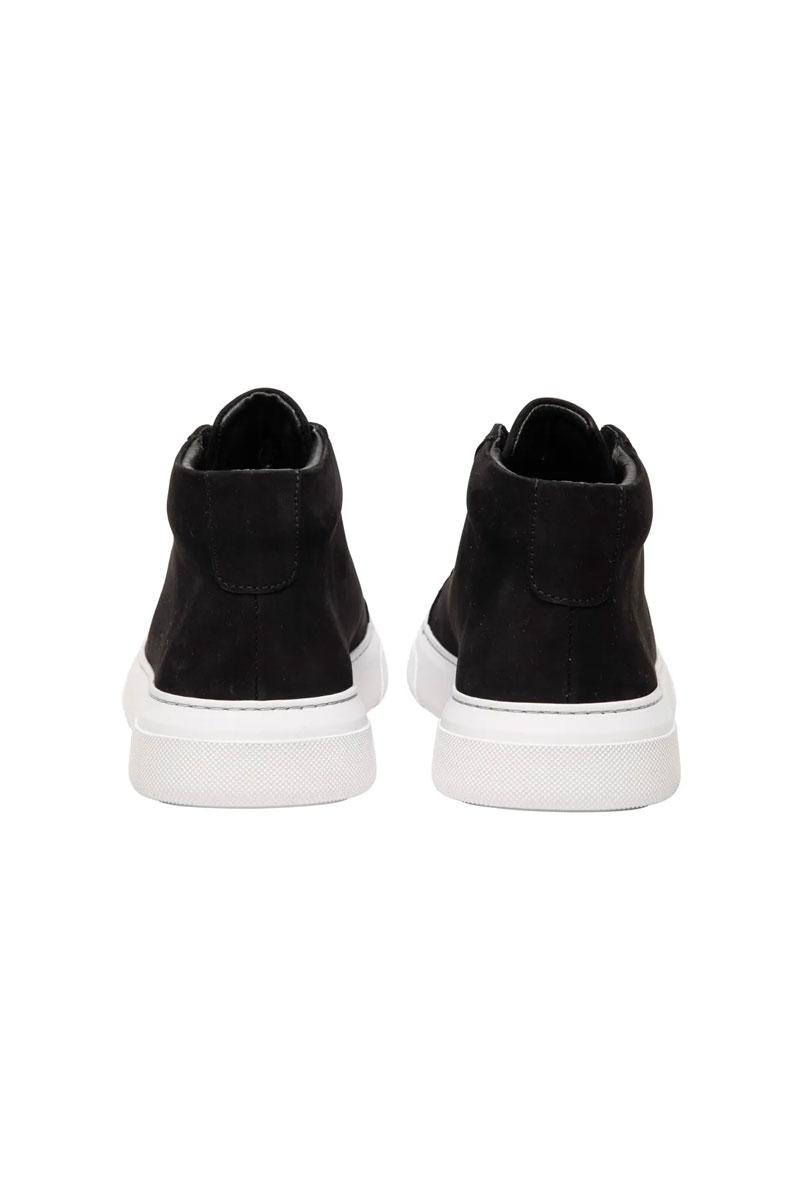 Garment Project Type Mid Sneaker Black Nubuck leat Foto 3