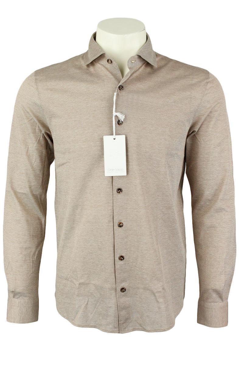 Gran Sasso Overhemd Jersey Gemecericeerd Katoen Foto 1