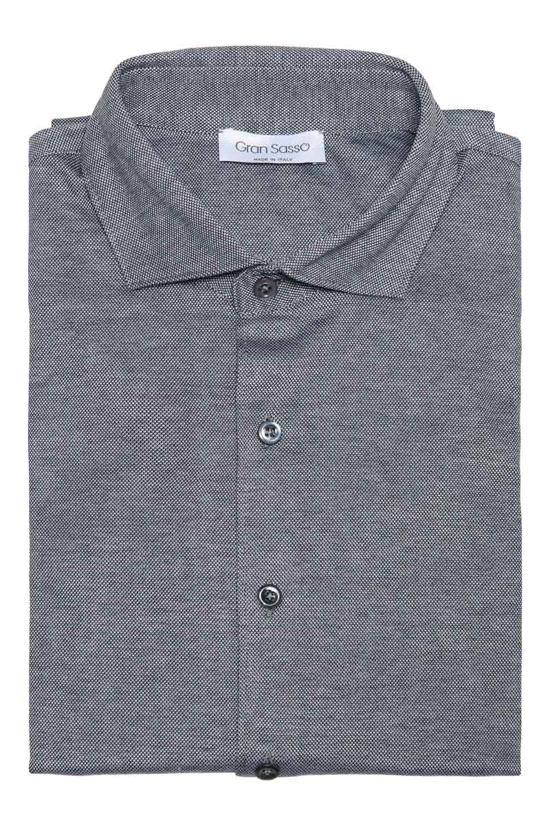 Gran Sasso Overhemd Jersey Gemercericeerd Katoen Foto 1