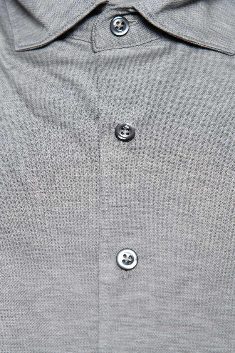 Gran Sasso Overhemd Jersey Gemercericeerd Katoen Foto 2