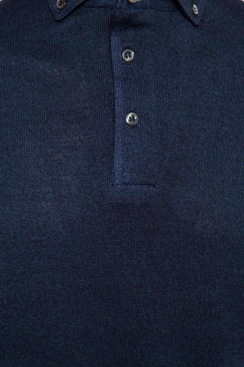 Gran Sasso Trui Polo Kraag 100% Merino Wool Dyed Foto 3