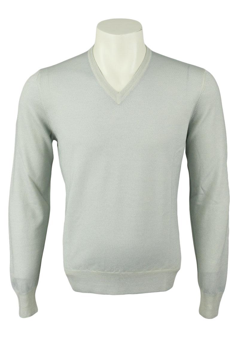 Gran Sasso Trui Zomer Merino Garment Dyed Foto 1
