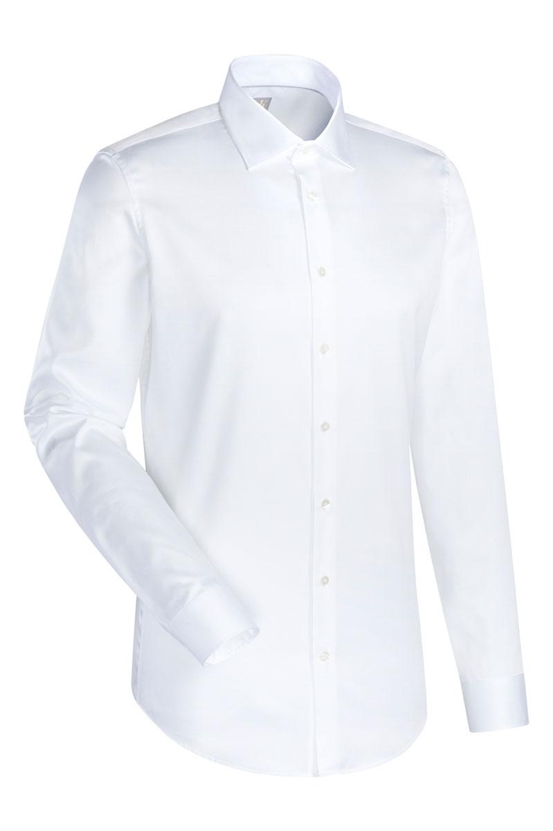 Jacques Britt Overhemd 100% Katoen Slim Fit Wit Foto 1