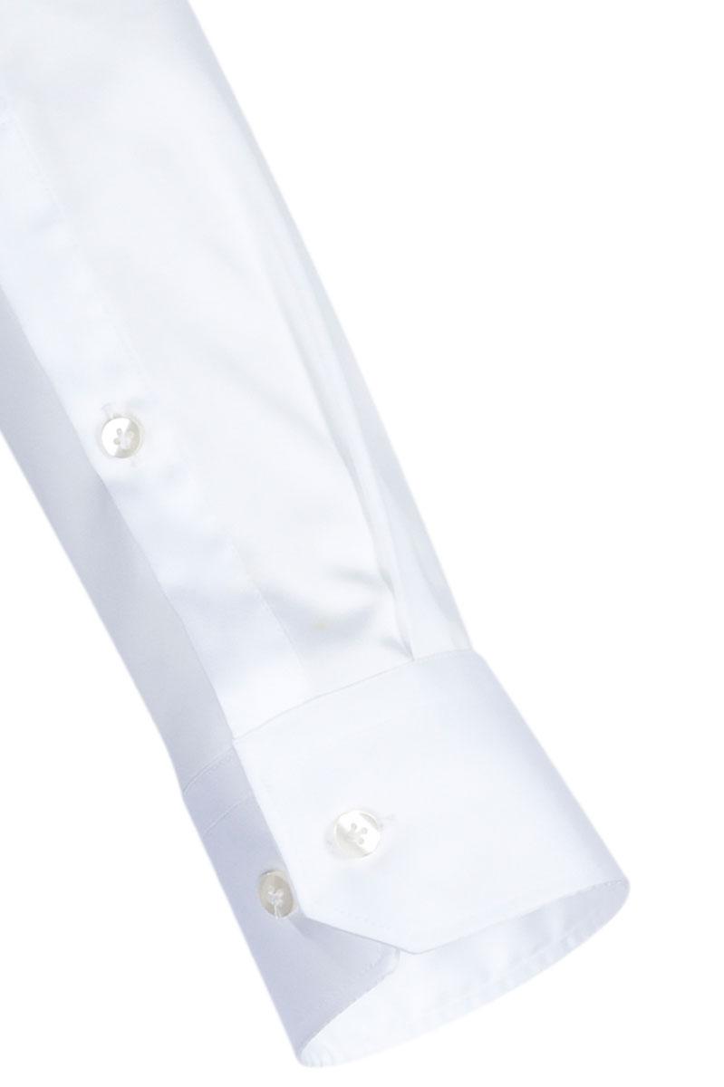 Jacques Britt Overhemd 100% Katoen Slim Fit Wit Foto 3