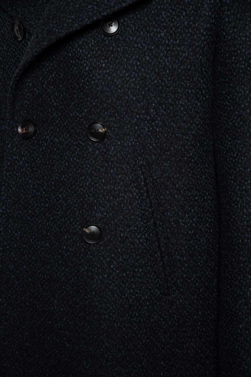 La Torre Coat Vito Double Breasted 100% Vol Foto 3
