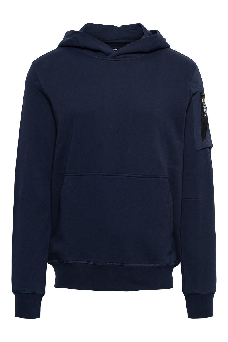 National Geographic Sweater Hood Pocket op de arm Foto 1