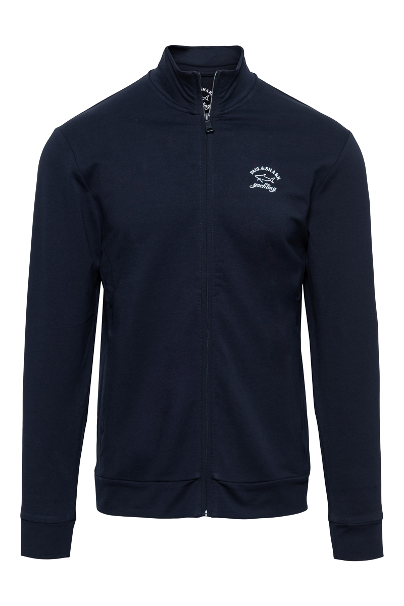 Paul & Shark Sweater Zip Polokraag 100% Organic Co Foto 1