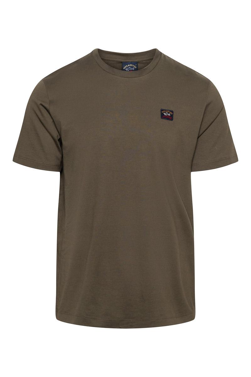 Paul & Shark T-Shirt Crew Neck 100% Organic Cotton donkergroen Foto 1