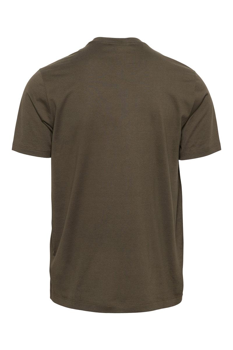 Paul & Shark T-Shirt Crew Neck 100% Organic Cotton donkergroen Foto 2