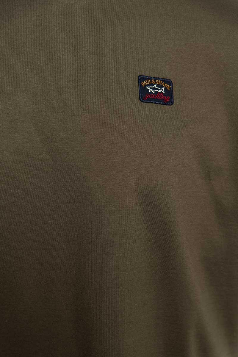 Paul & Shark T-Shirt Crew Neck 100% Organic Cotton donkergroen Foto 3