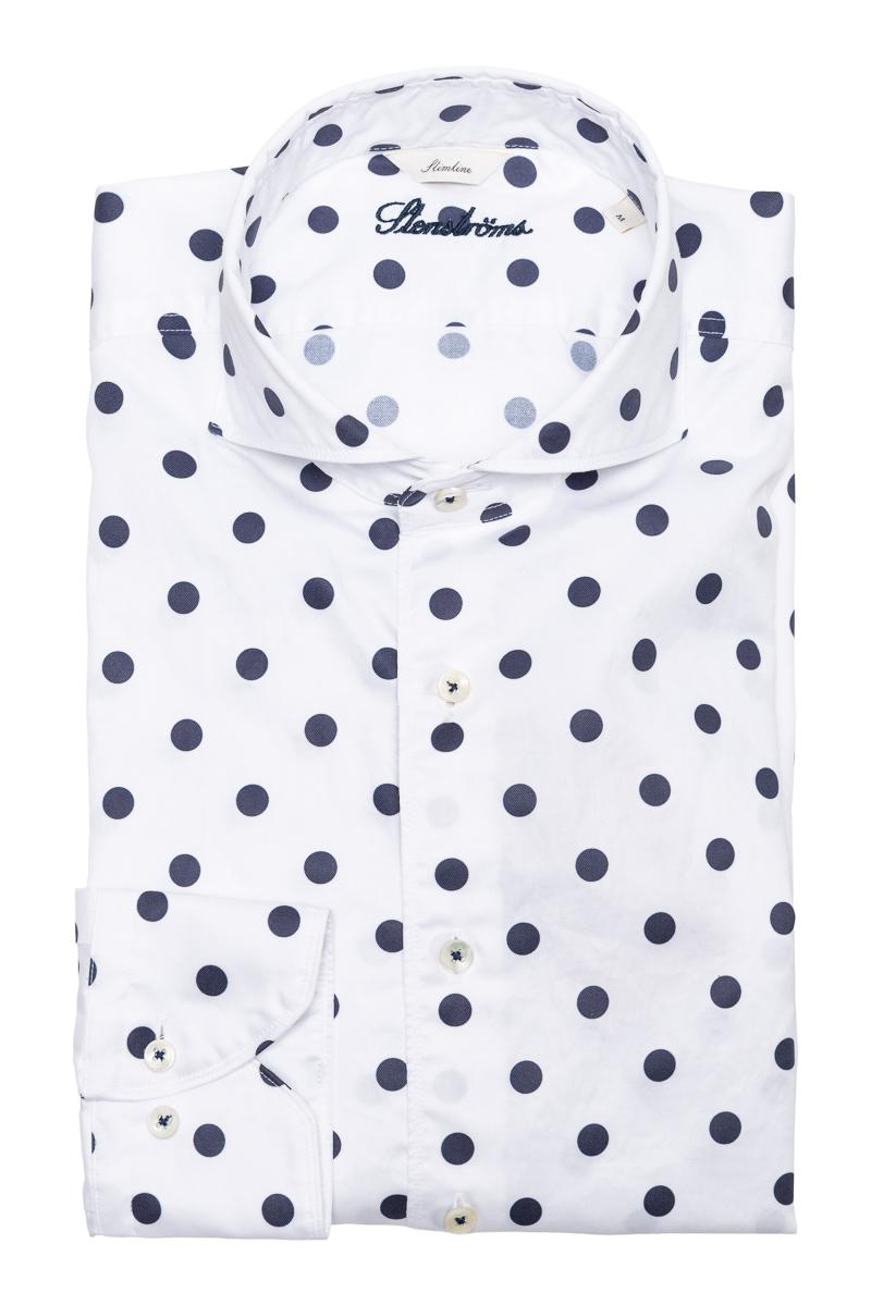 Stenstroms Overhemd 2ply Slimline Print Foto 1
