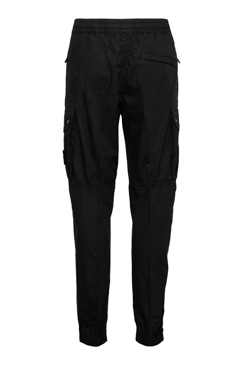 Stone Island Jogger Pants Light Cotton Zwart Foto 2