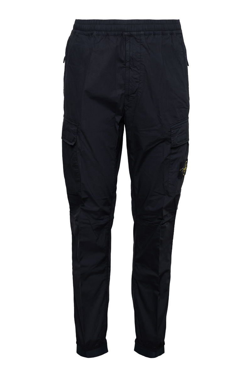 Stone Island Jogger Pants Light Cotton Donkerblauw Foto 1