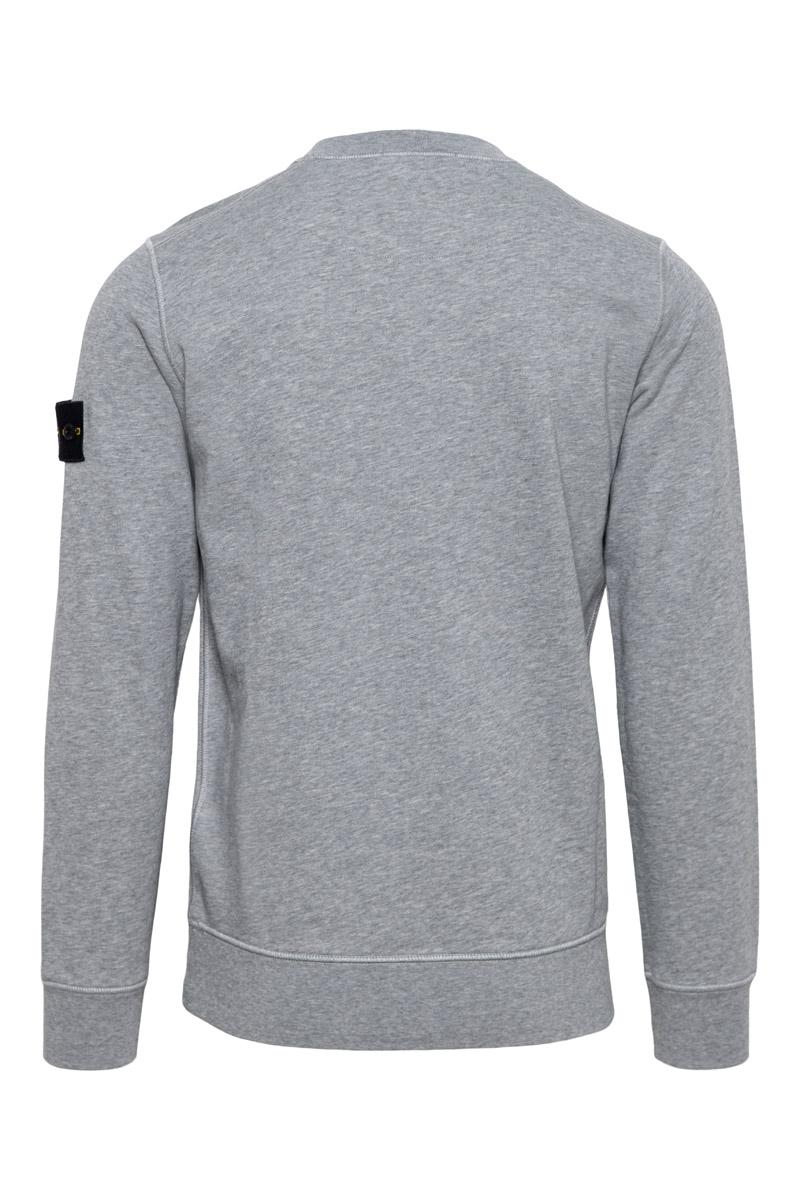 Stone Island Sweater 63051 Cotton Fleece 100% Katoen Lichtgrijs Foto 2