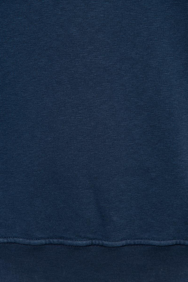 Stone Island Trui 66060 Cotton Fleece 100% Katoen Dyed Blauw Foto 3