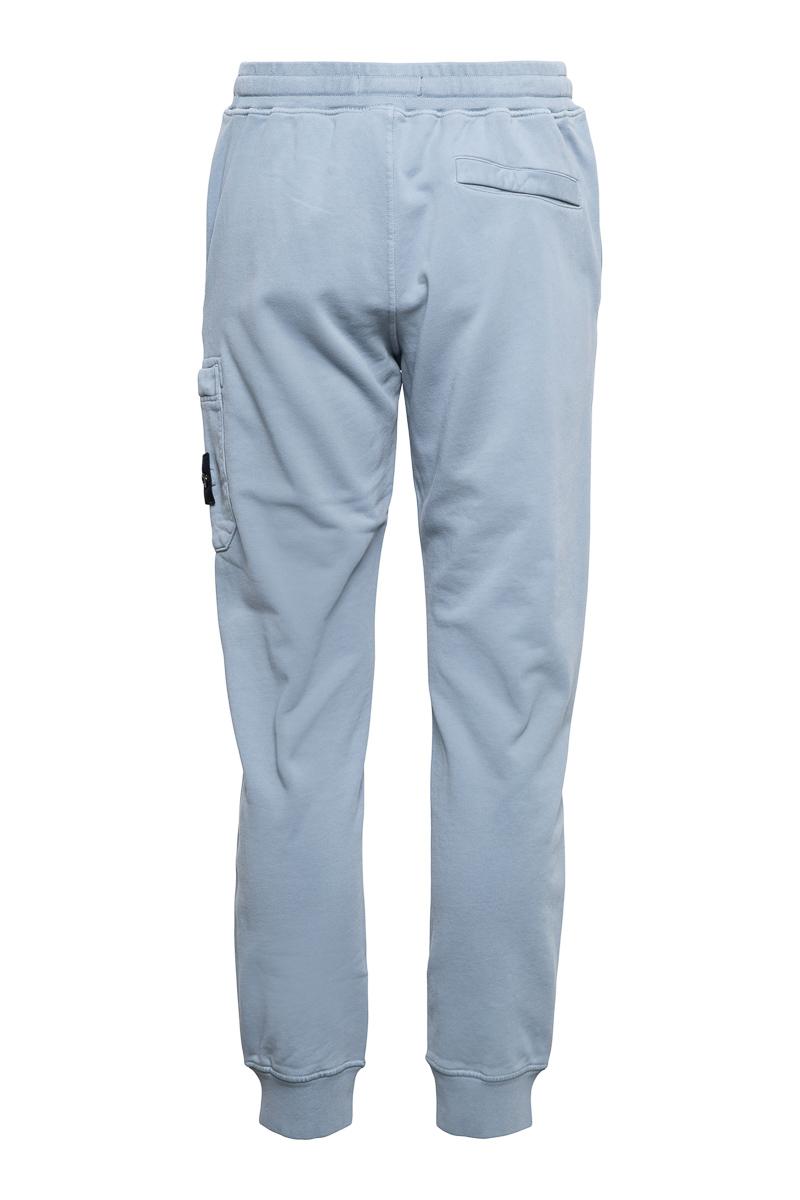 Stone Island Broek 64551 Cotton Fleece Pants 100% Katoen Blauwgrijs Foto 2